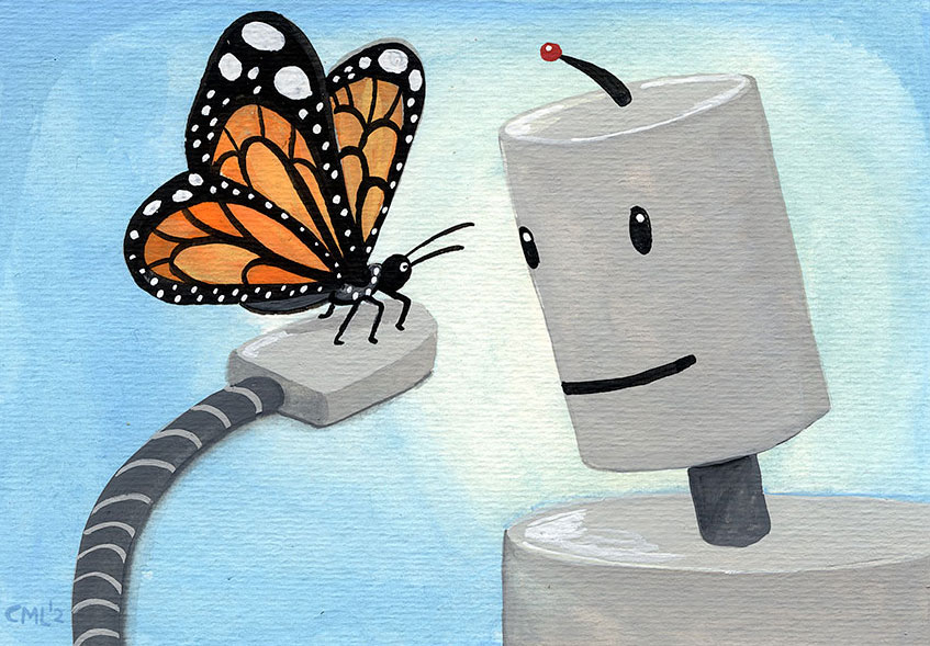 Butterfly Robot / Robot of the Month by Christine Marie Larsen