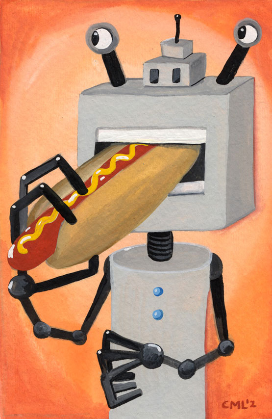 Hot Dog Robot / Robot of the Month by Christine Marie Larsen