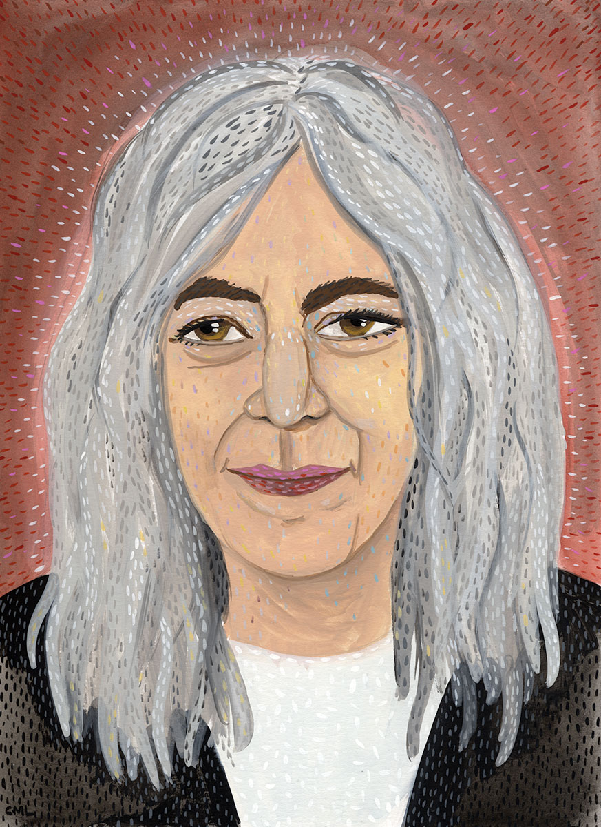 Portrait of Patti Smith by Christine Marie Larsen