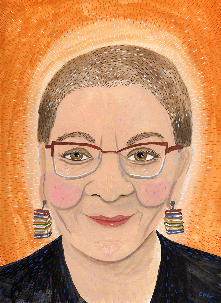 Portrait of Nancy Pearl by Christine Marie Larsen