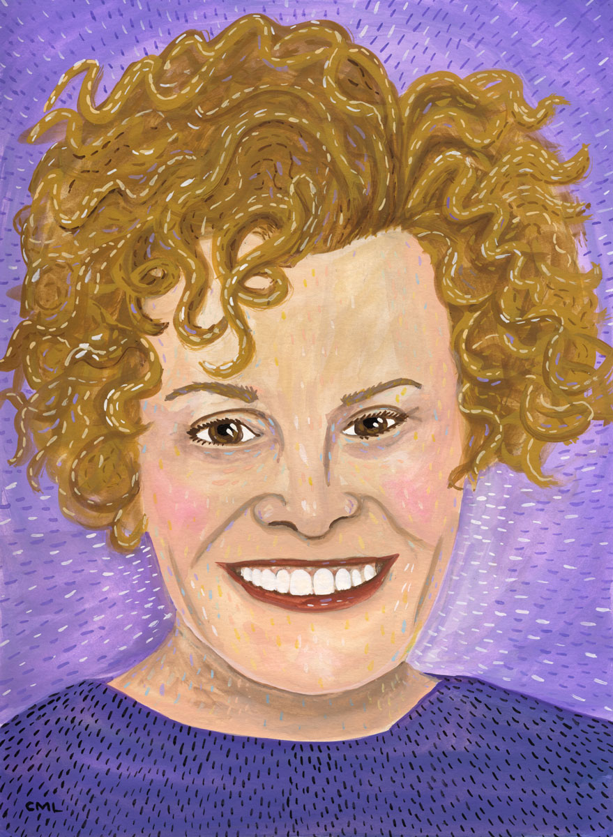 Portrait of Judy Blume by Christine Marie Larsen