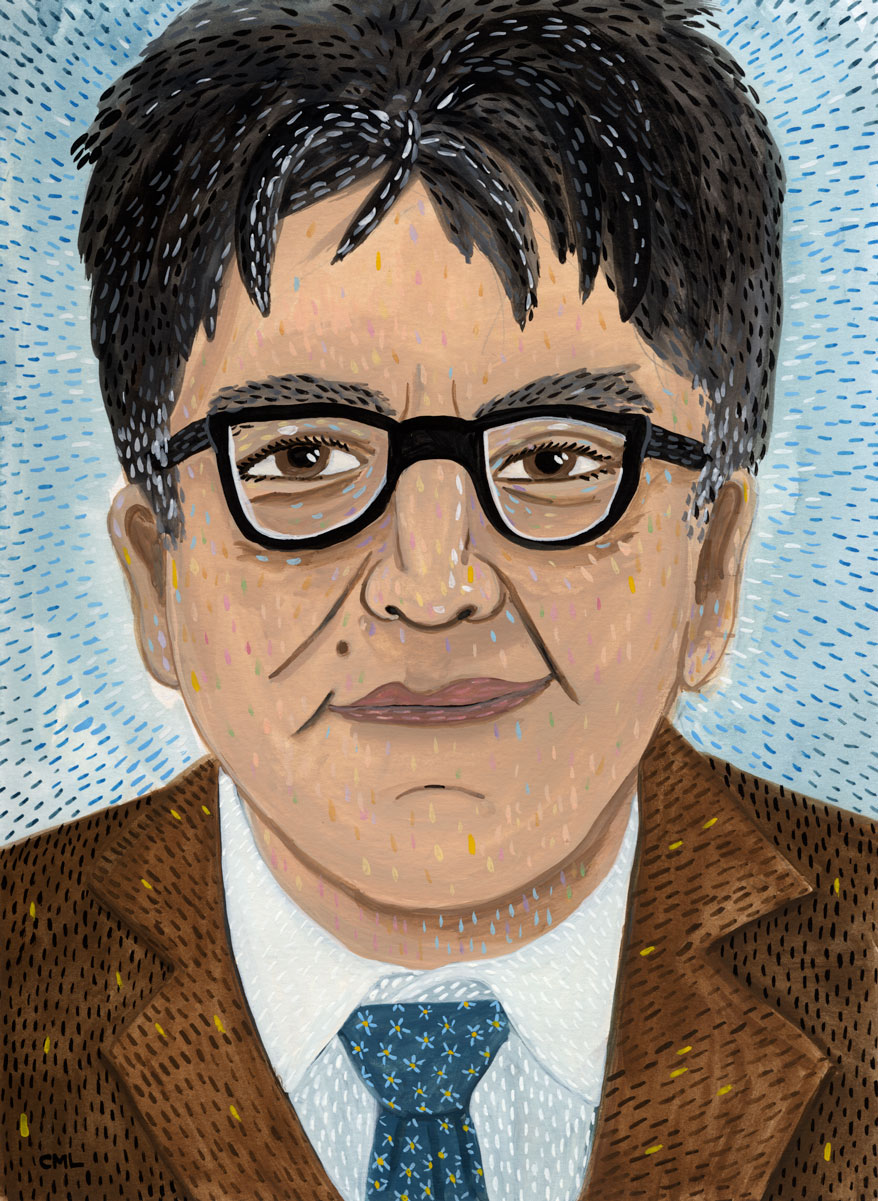 Portrait of Sherman Alexie by Christine Marie Larsen