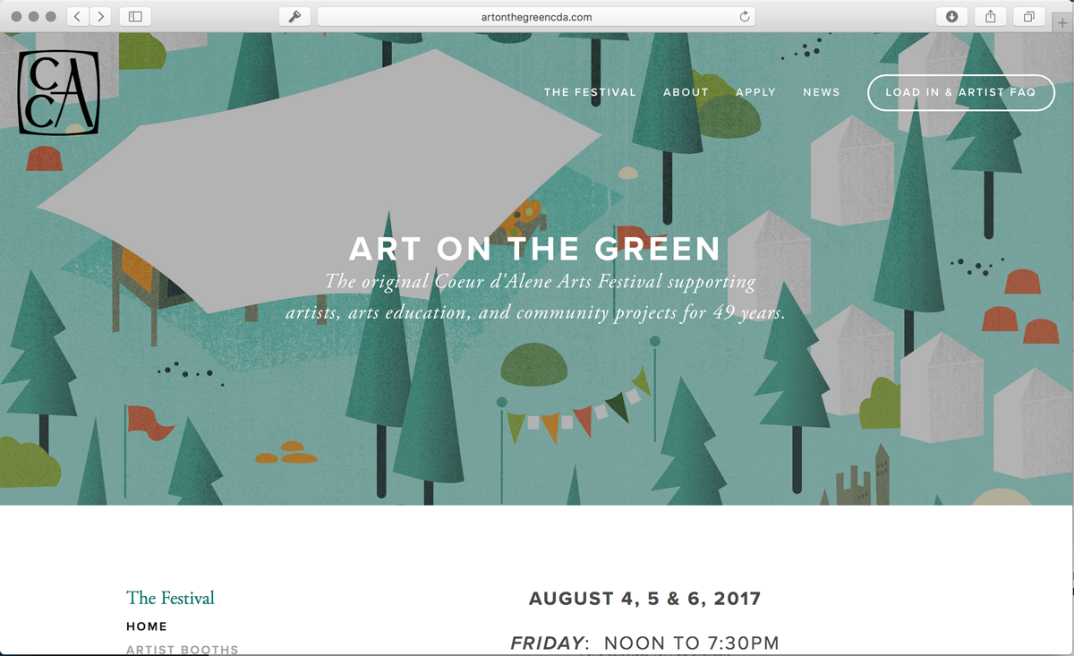 Art on the Green Festival Screenshot
