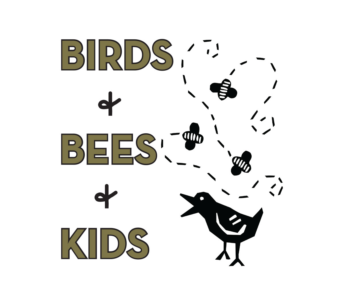 Birds + Bees + Kids Logo design