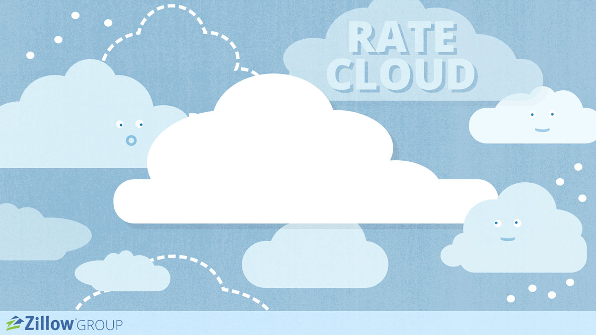 Illustration of clouds. Rate Cloud slide