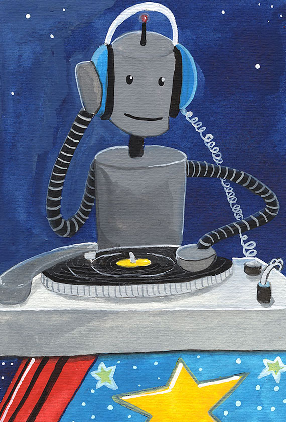 Robot DJ / Robot of the Month by Christine Marie Larsen