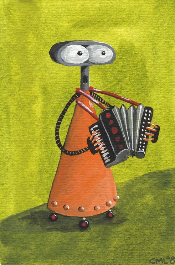 Accordion Robot / Robot of the Month by Christine Marie Larsen